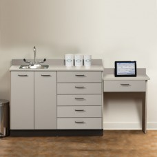 Base Cabinet Set with 2 Doors, 6 Drawers and Desk Clinton 8048-99