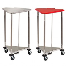 Clinton 18 in. Stainless Steel Triangular Hamper with Lid Model HS-54