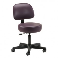 Clinton Economic 5-Leg Pneumatic Stool with Backrest Model 21335-1