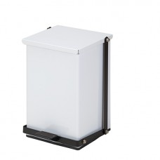 Clinton 24 Quart Premium White Waste Receptacle Model TP-24W