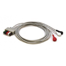 Mindray 3 Lead ECG Snap Lead Wires - Adult/Pediatric - 40in. -  0010-30-42734