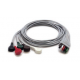 Mindray 5 Lead Mobility ECG Snap Lead Wires - 24in. -  0012-00-1503-02