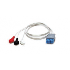 Mindray 3 Lead Disposable ECG Snap Lead Wires - 24in. -  040-000748-01