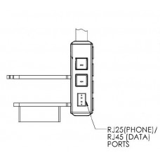 Electrical Outlets and Low Voltage Accessories-RJ25 and RJ45 (dual, one each)